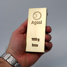 Brass bar - fine Agosi brass - 1 kg/ 1000 grams - alternative investment metals