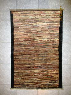 Afghan hand-knotted rug with Missoni gabbeh pattern - Measurements: 120 x 79 cm - Iran