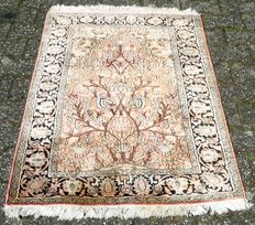 Hand-knotted silk carpet, Kashmir, India Last quarter of the 20th century.