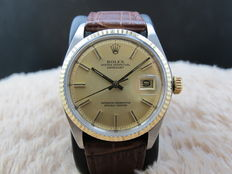 1977 ROLEX DATEJUST 1601 2-TONE ORIGINAL MATT GOLD DIAL