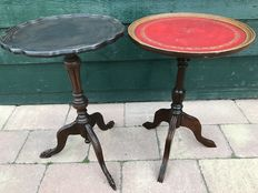 Two Mahogany wine tables in Regency style