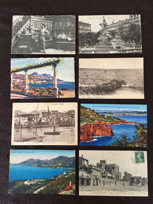 lot of about 580 postcards of the South of France, from Nice to Montpelier (Hérault) and various France - early 20th century to the 1960s various France