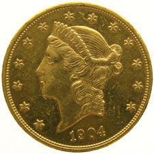United States – 20 Dollars 1904 'Coronet Head' – Gold