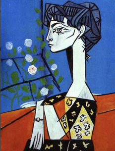 Pablo Picasso (after) - Jacqueline Roque With Flowers