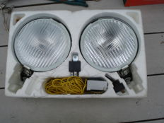 A beautiful set DDR VEB spotlights with a diameter of 150 mm from the 1970s and 1980s.