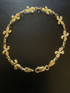 Ladie's Bracelet signed Franco in yellow 18k solid gold - made in Italy -