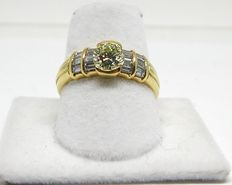 Diamond engagement ring, total: 1.64 ct - ring size BE 53 NL 17.00 mm // free resizing