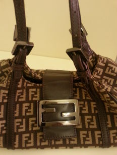 Fendi - handbag with double handles.