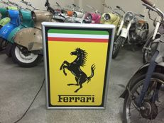 Big Exclusive Ferrari 87 x 63 x 12cm Illuminated - advertising Lightbox with oryginal horse logo - early 21 centaury