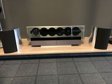 Bang & Olufsen BeoSound 9000 6-CD changer with BeoLab 4000 active speakers.