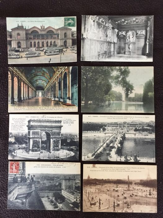 lot of about 860 postcards of France, Paris and surroundings, Versailles etc. and various France - early 20th century to the 1960s various France