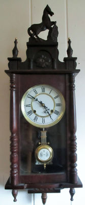 Wall clock, horses, regulator - 1950/1960 (47)