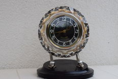 Table clock from Russia, art deco, MAJAK/8-d timepiece