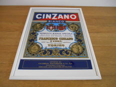 Advertising mirror for Cinzano from 1986