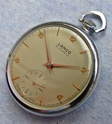 LANCO SWISS 15JEWELS - Men's pocket watch from the 60s - 70s - rare collector's piece