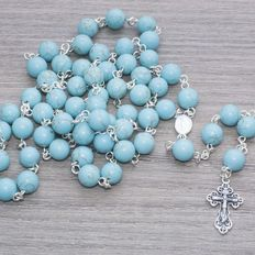 Rosary of Turquoise beads and Sterling Silver