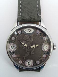 Molnija XXL - Motif of an angel - mariage watch - Beautiful large line with visible mechanism