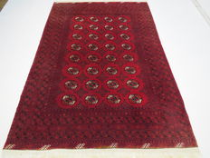 Beautiful and classic original Afghan BUCHARA 290 x 200 cm, top condition, end of 20th century 100% wool