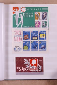 Soviet Union approx. 1963/1997 - Batch of stamps and blocks in album and stock book