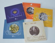 "The Netherlands – Year packs 2003/2009 ""Theme sets KNM"" (5 pieces in total)"