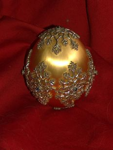 Original Igor Carl Faberge egg, 925 sterling silver, 24K gold plated