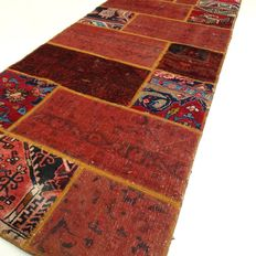 "Patchwork – 203 x 88 cm – ""Runner - Combination of the most beautiful Persian carpets, in mint condition"""
