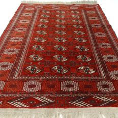 "Afghan - 172 x 122 cm - ""Authentic, finely knotted Persian carpet in good condition"".Please note! no reserve price: starting at €1,-"