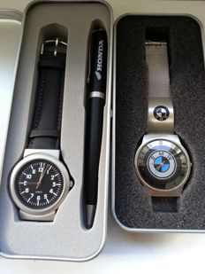 Set of 2 promotional watches - Honda / BMW men's wristwatches