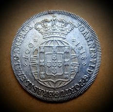 Portugal – Cruzado Novo – 1818 – D. João VI – RARE SUPERIOR CONDITION