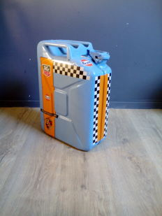 Jerrycan - with logos of among others Porsche - Gulf - Tag Heuer / Metal