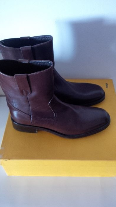 Fendi Men's Leather Boots - Made in Italy