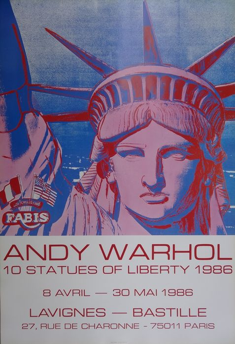 Andy Warhol -  10 Statues of Liberty