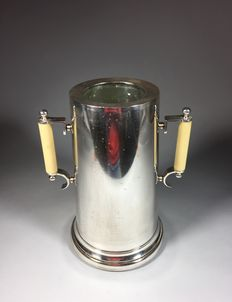 Silver plated design wine cooler, Italy, second half 20th century