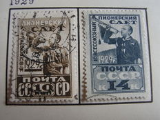 Russia and Soviet Union, 1864-1934, collection on sheets, sorted by perforation and print types