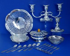 Lot of 18 silver plated objects