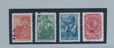 Soviet Union 1941 - Romanian occupation of Odessa - Soviet stamps with overprint for the area occupied by Romania.