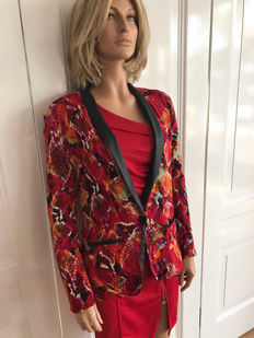 One Teaspoon – red printer blazer