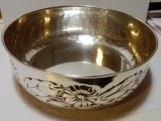 Centrepiece bowl in silver, Italy, approximately 1950