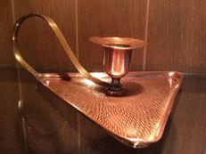 Copper Art Nouveau candle holder