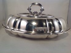 Silver double serving tray or covered bowl, Wilkens und Söhne, Germany