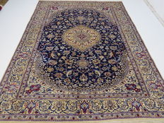 Dreamily beautiful Persian carpet, Nain/Iran, 345 x 245 cm, end of the 20th  century. In top condition - made with silk