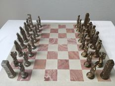 Special chess set: Romans against the Barbarians