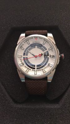 Detomaso Business Punk – Silver/white – Men's wristwatch.