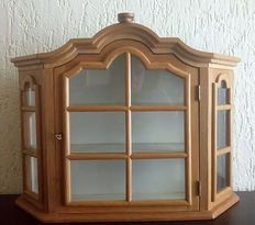 Oak hanging display cabinet, first half 20th century