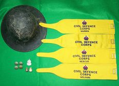 WW2 - 1954 British Air Raid Warden/Civil Defence Lot