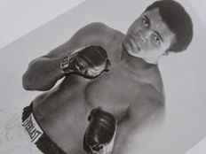 Muhammad Ali (RIP) - Photograph+ Notarial Letter Of Authenticity (LOA) established by JSA (James Spence).