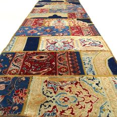 Patchwork - 300 x 87 cm - runner - combination of the most beautiful, Persian carpets in lovely patchwork condition.