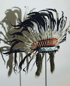 Beautiful Indian real feather headdress