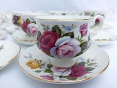 "Beautiful 11 cups set from Fine Bone China ""Crown"" Staffordshire and Royal Albert"