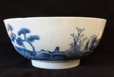 Nanking cargo large size 19cm scholar crossing bridge - China - circa 1750